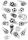 Football or soccer motion balls set