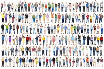 People Diversity Celebration Happiness Community Crowd Concept