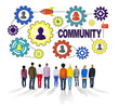 canvas print picture - Community Culture Society Population Team Concept