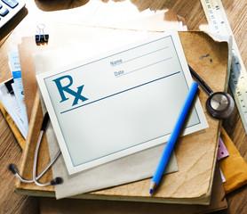 Rx Medical Prescription Health Care Symbol Healthy Concept