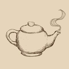 teapot drawn