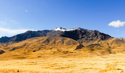 View along the Cusco-Puno Road, Peru