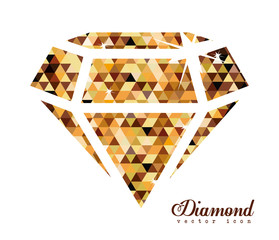 Diamond design, vector illustration.