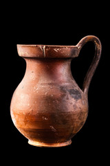 ancient canosan oenochoe isolated