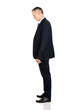 Full length side view businessman standing