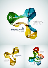 Set of wave business infographics