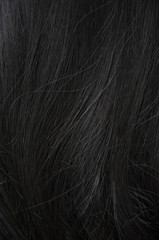 Close up Woman hair on white background