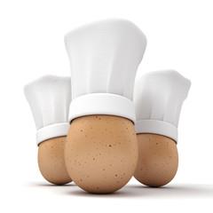 Gourmet egg trio