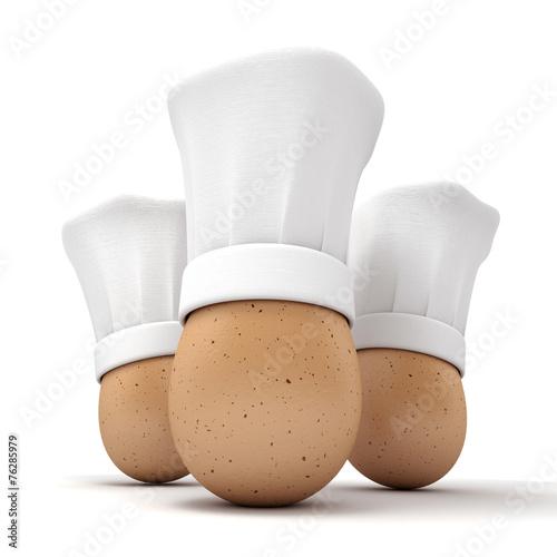 Papiers peints Ouf Gourmet egg trio