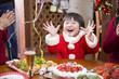 サンタ姿の子供