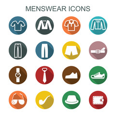 menswear long shadow icons