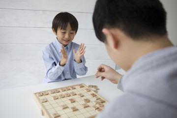 Boy are pleased to the Japanese Chess