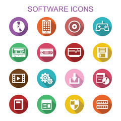 software long shadow icons