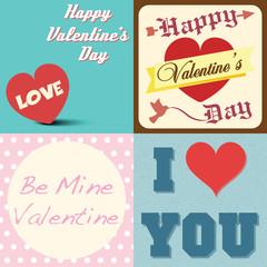 valentines day typographic