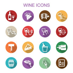 wine long shadow icons