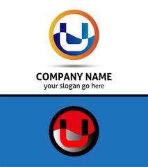Letter U logo symbol design template elements