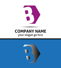 Vector elegant design alphabet symbol Letter B logo
