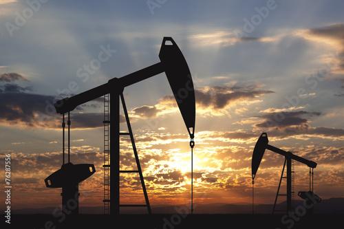 Leinwanddruck Bild Oil pump