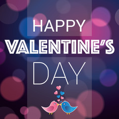 Happy Valentine's Day - greeting card,with love birds vector