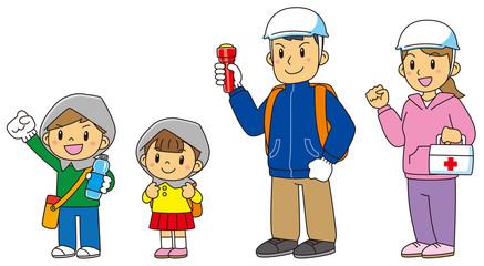 防災対策家族