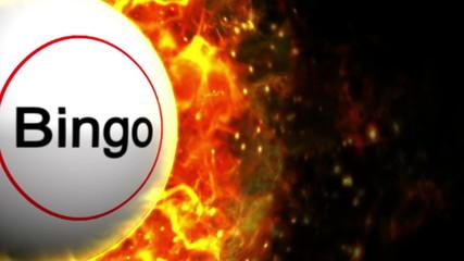 Fiery Bingo Ball Background