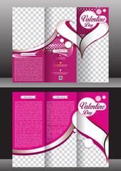 tri fold valentine day brochure