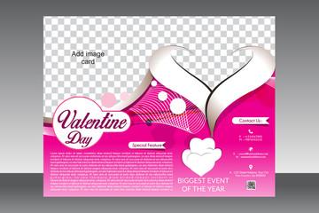 valentine day flyer template