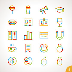 Vector Highlighter Line Icons for any purpose Set 2