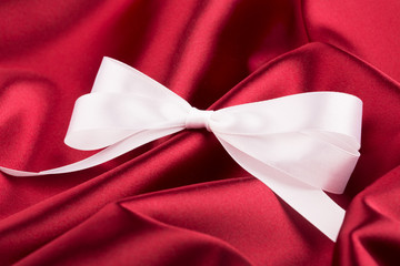 White ribbon satin bow