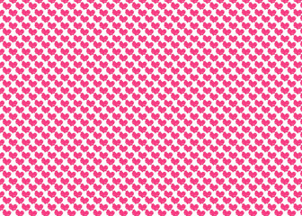 Colorful pink heart pattern background.