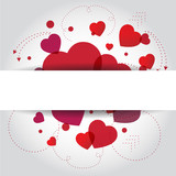 Fototapety heart for Valentines Day Background