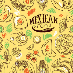 simpless pattern mexican food