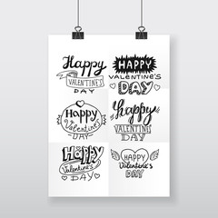poster Valentine's day lettering