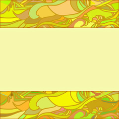 an yellow floral ornament frame