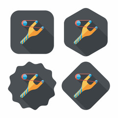 Slingshot flat icon with long shadow,eps10