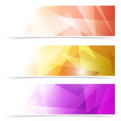 Modern triangular web banner collection