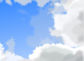 青空と雲(スカイブルー)