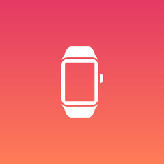 Smart Watch Vector Flat Design Icon with apps icons