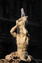 Triton Fountain by Gian Lorenzo Bernini in Rome, Italy.