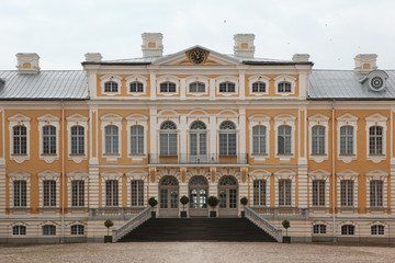 Rundale Palace designed by Bartolomeo Rastrelli in Latvia.