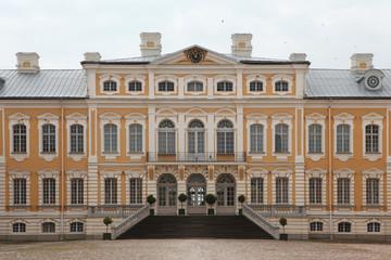 Rundale Palace designed by Bartolomeo Rastrelli in Latvia.