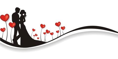 Hintergrund mit Herzen