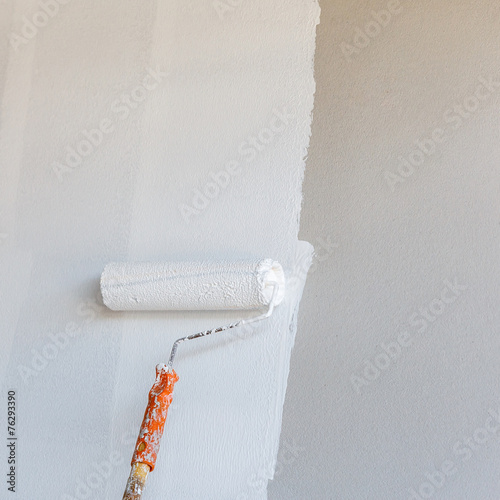 Painted White color for new house