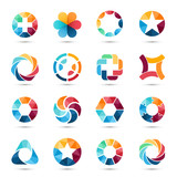 Logo set. Circle signs and symbols. - 76293596