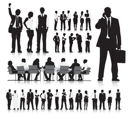 Business People Silhouette Collection Teamwork Concept