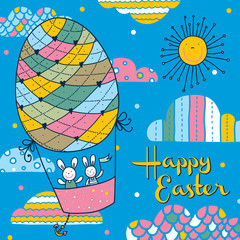 Happy Easter. Cute postcard.