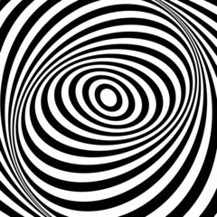 Illusion of whirl movement illusion. Op art design.
