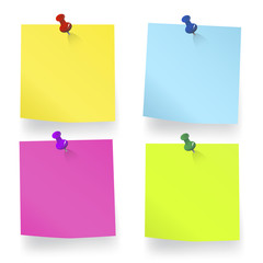 Blank Sticky Note Reminder To Do List Vector Concept