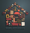 Flat design concepts home appliances icons