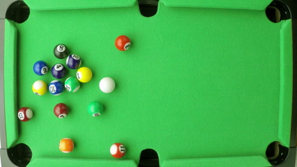snooker balls in slow motion